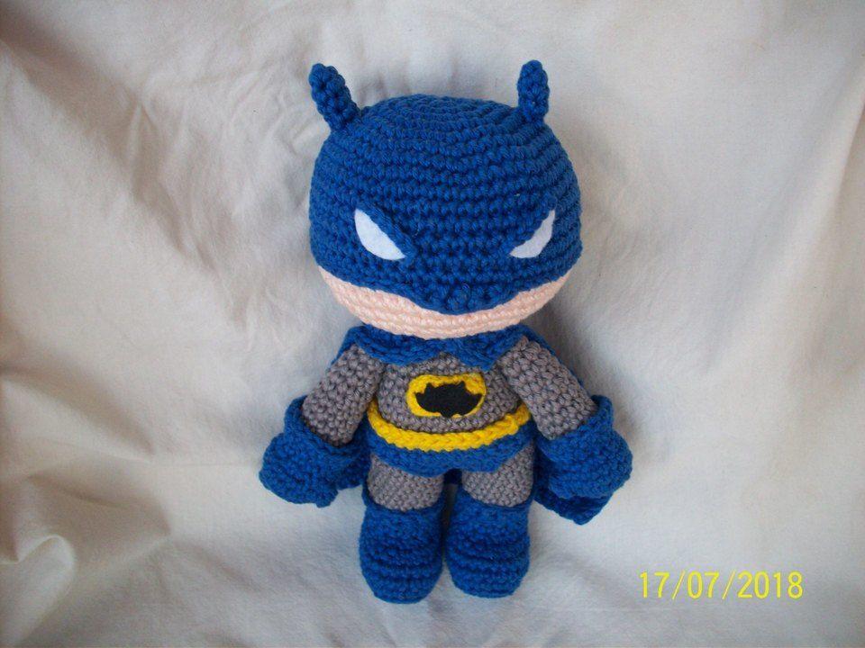 Batman crochet amigurumi chibi plush doll DC movie video game ... | 768x1024
