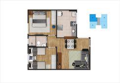 Apartamento 2 Quartos Financiado pela Caixa