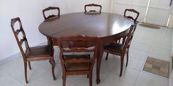 Conjunto Jantar Antigo com 6 Cadeiras