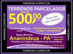 Av. Joao Paulo Ii, Lotes e Terrenos Só R$ 11.500,00 a Vista