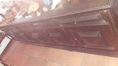 Mesa + Guarda Louças/aparador Estilo Colonial 10 Cadeiras
