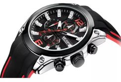 Relógio Analógico de Luxo Megir Cronógrafo Multifuncional