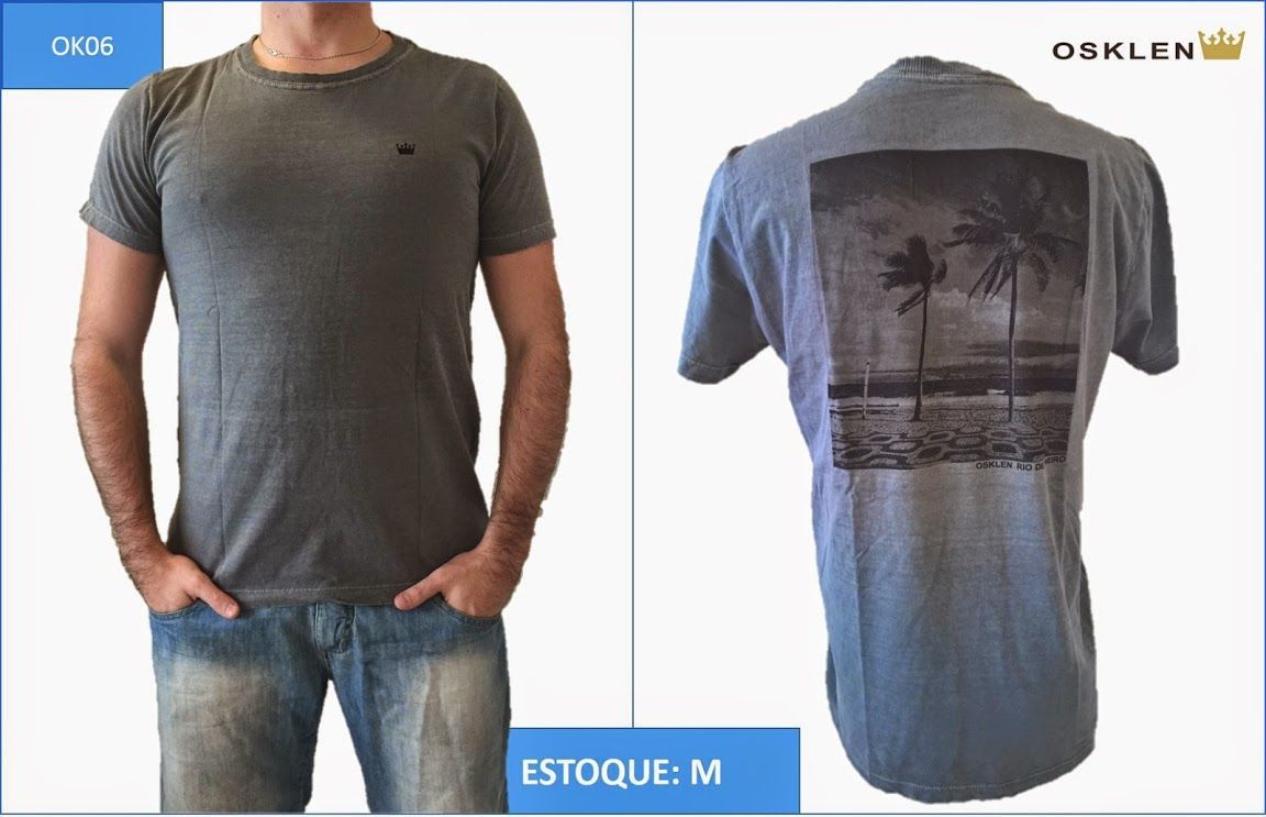 20da5232c6 ... Camiseta Osklen Atacado - Kit com 10 Camisa - Mesmas Vendidas Shopping  ...