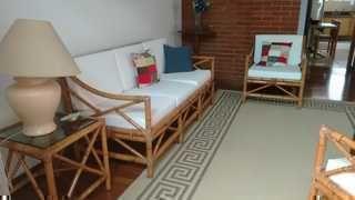 Conjunto de sof em vime duas poltronas e mesa lateral - Sofa para tres ...