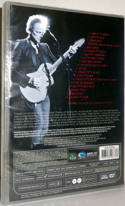 DVD Lindsey Buckingham - Songs From The Small Machine - Desapega