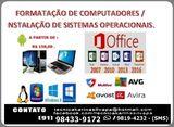 Formatação de Pcs e Notebooks / Instalação de Sistemas Operacionais.