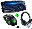 Kit Gamer Teclado, Mouse, Led Iluminado e Headset - Entrega Grátis