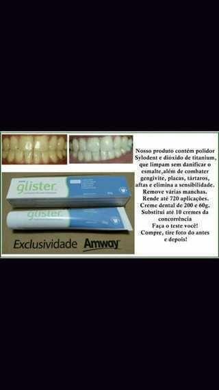 Pasta Dental Glister Clareadora Importado Dos Eua Desapega