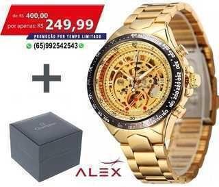 Relógio Automático Skeleton Winner Luxo Excecutivo (Bazar Mt ... 9b02257a4a