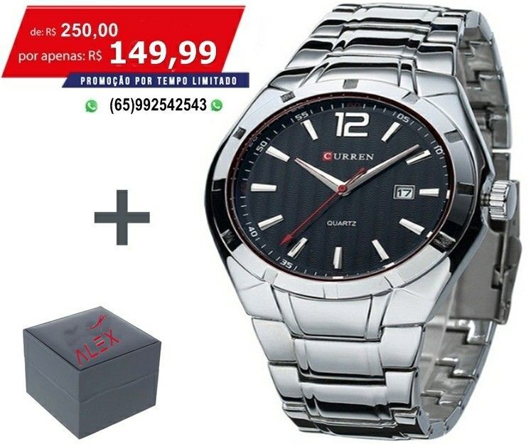8f2e0fc9567   Relógio Masculino Aço Inoxidável Executivo Relógio Masculino Aço  Inoxidável Executivo