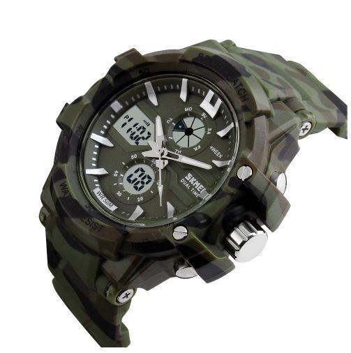 4dc199119ed ... Relógio Militar Camuflado Digital e Analógico À Prova D água 5 Atm ...