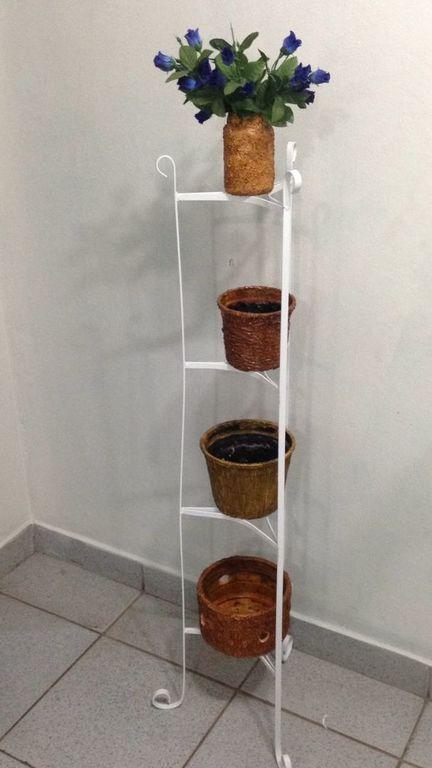 Aparador Vidro ~ Suporte Vertical de Panela Ou Vaso de Aço e 100% Artesanal Desapega
